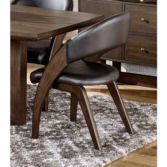 Onofre Contemporary Bi-Cast Vinyl Dining Arm Chair photo