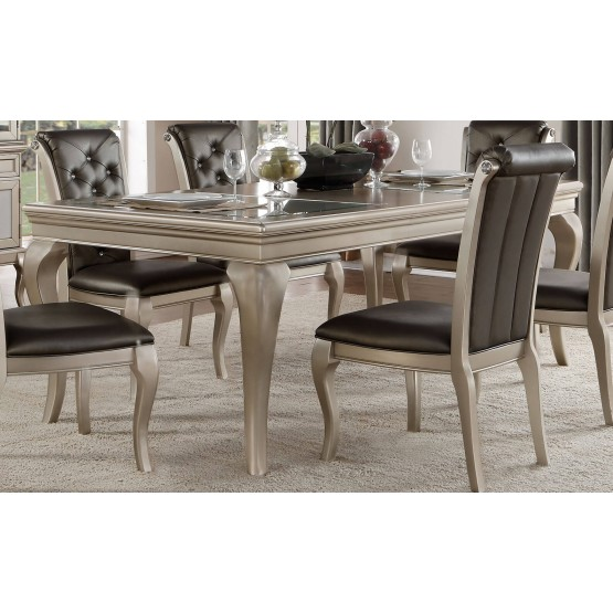 Crawford Transitional Rectangular Extendable Dining Table photo
