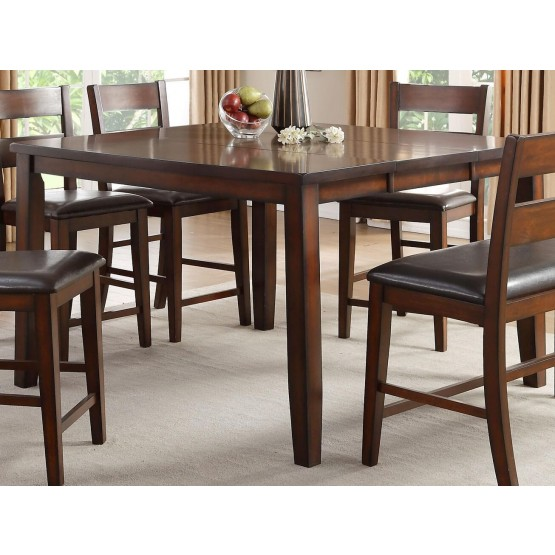 Mantello Transitional SquareWood Extendable Counter Height Table photo