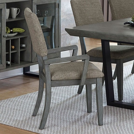 Avenhorn Modern Fabric Dining Arm Chair photo
