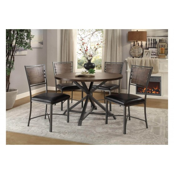 Fideo Rustic Industrial Dining Room Set photo