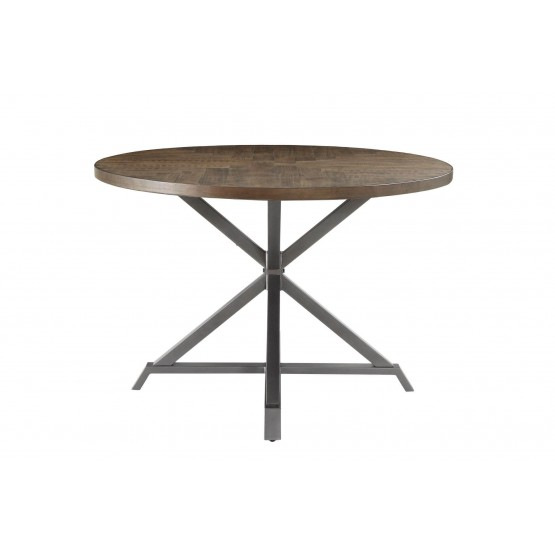 Fideo Rustic Industrial Wood/Metal Dining Table photo