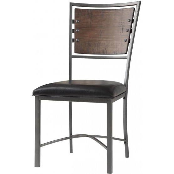 Fideo Rustic Industrial Wood/Metal Dining Chair photo
