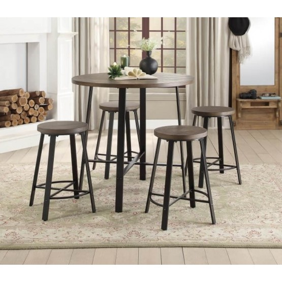 Chevre Rustic Counter Height Dining Room Set photo