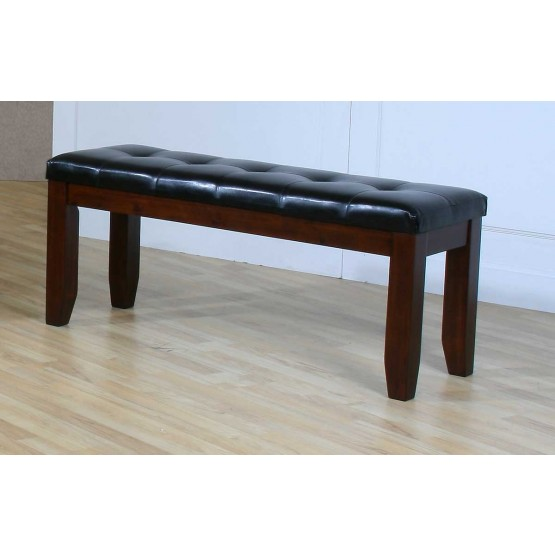 Ameillia Transitional Faux Leather/Wood Dining Bench 48