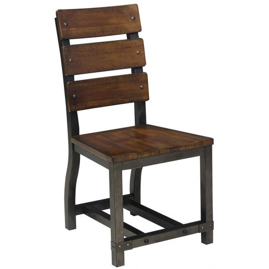 Holverson Industrial Wood Dining Chair photo