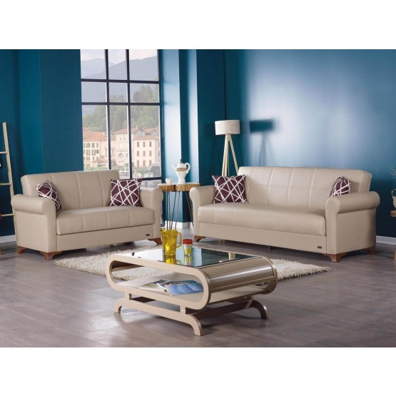 Yonkers Bonded Leather Storage Living Room Set photo