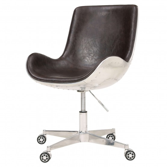 Abner PU/Aluminum Swivel Office Chair photo