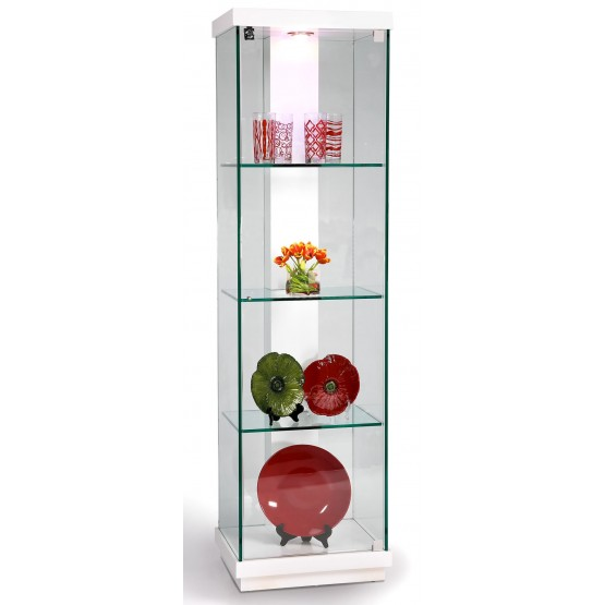 6633 White Accent Glass Curio w/LED Lights photo