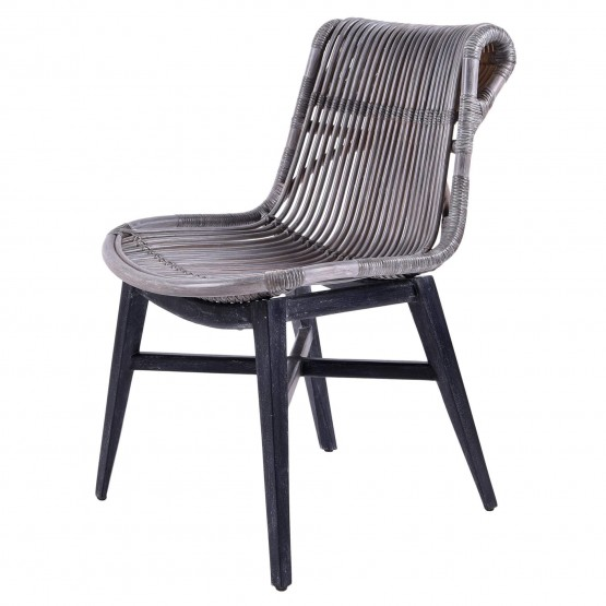 Iria Rattan/Wood Dining Chair photo