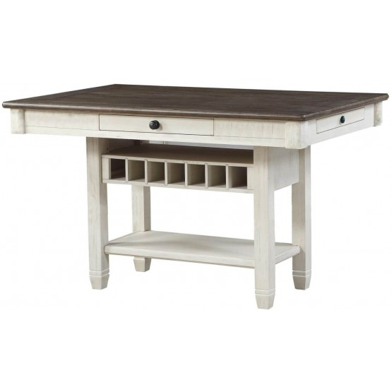 Granby Traditional Rectangular Wood Counter Height Table photo