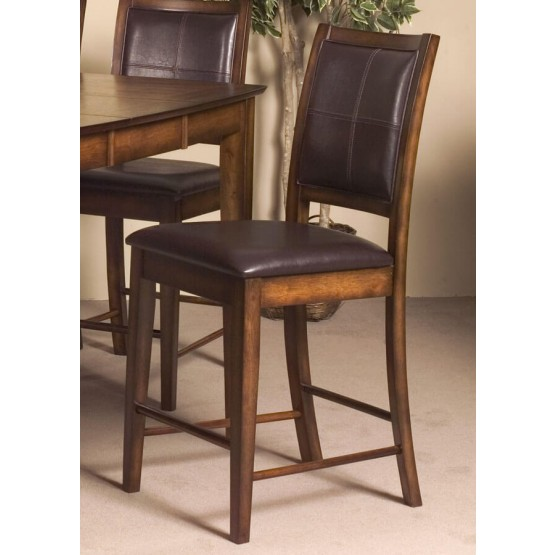 Verona Transitional Fabric/Wood Counter Dining Chair photo