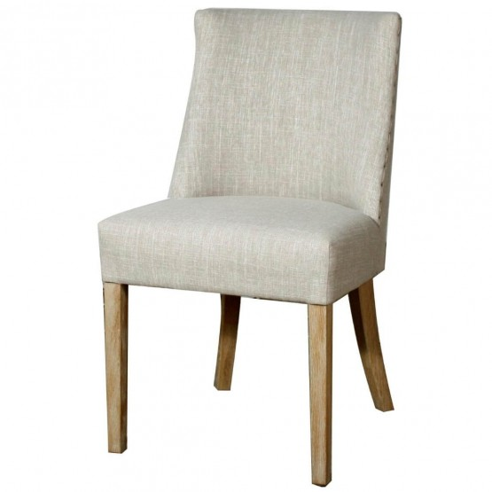 New Paris Fabric/Wood Dining Chair photo