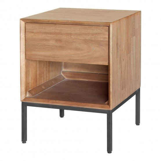 Hathaway KD Wood/MDF/Steel Nightstand photo