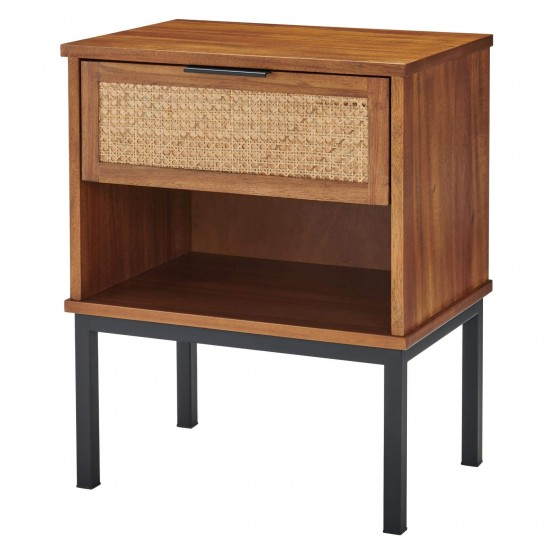 Caine Rattan/MDF/Wood Nightstand/Side Table photo