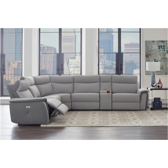 Maroni Fabric Power Reclining Sectional