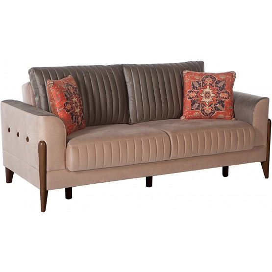 Piero Fabric Storage Sleeper Loveseat photo