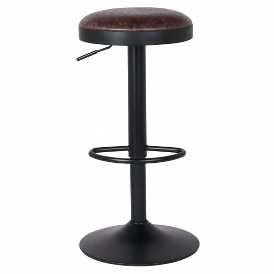 Juno PU/Steel Gaslift Swivel Bar Stool photo