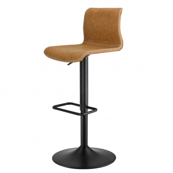 Jayden KD PU Low Back Gaslift Bar Stool photo