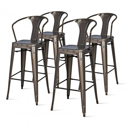 Metropolis Metal Counter Stool photo