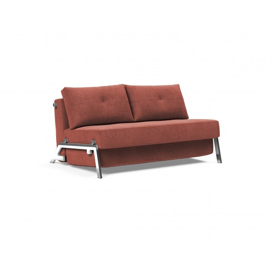 Cubed 02 Deluxe Fabric Sofa Bed w/Chrome Legs photo