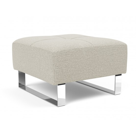 Deluxe Excess Fabric Ottoman w/Chrome Legs photo