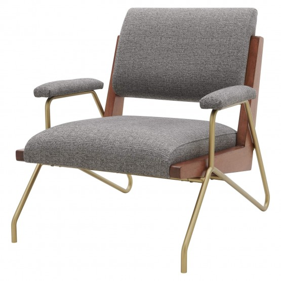 Smith KD Fabric/Wood/Steel Accent Chair photo