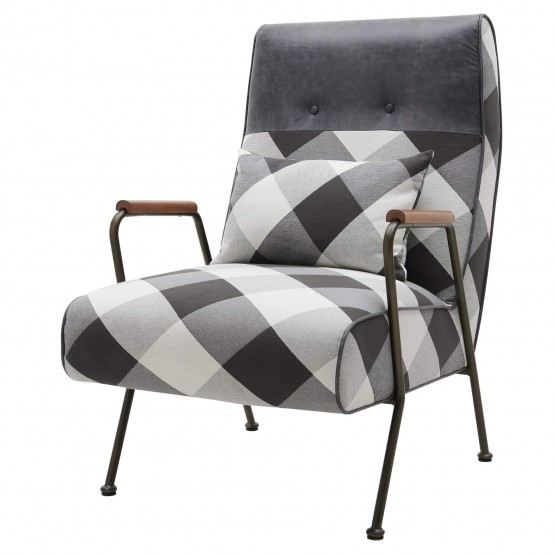 Kahlo Fabric/Wood/Steel Accent Chair photo
