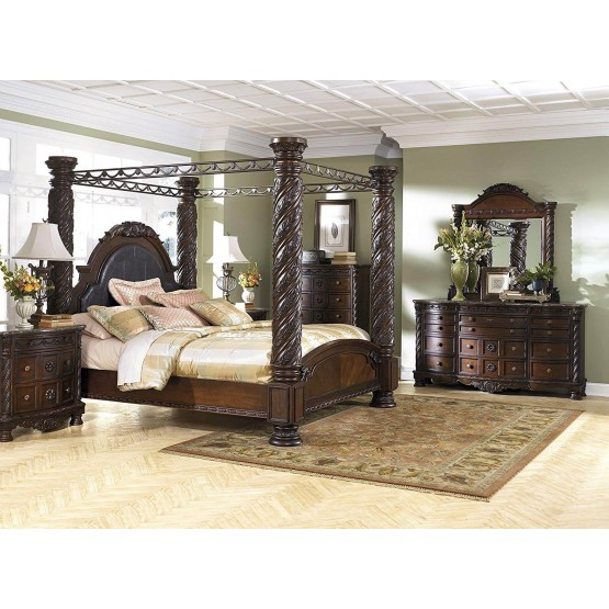 Ashley SM North Shore Wood Canopy Bedroom Set photo