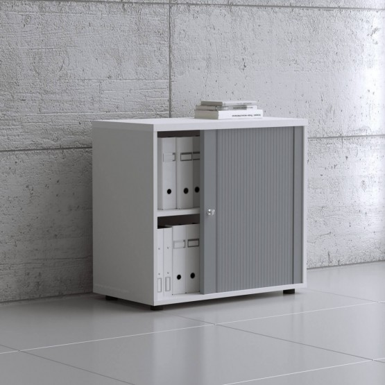 Standard 2OH Low Tambour Storage Cabinet, Height 29 1/8'' photo