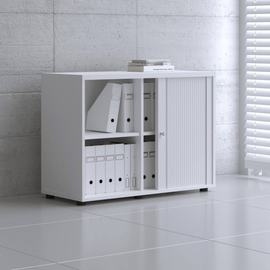 Standard 2OH Low Tambour Storage Cabinet photo