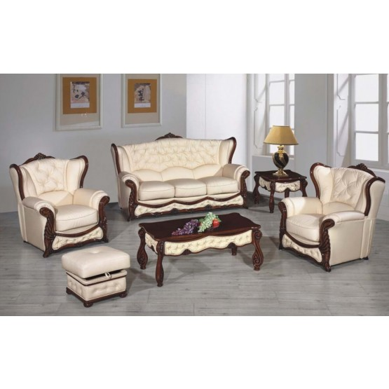 A35 Half Leather Living Room Set photo