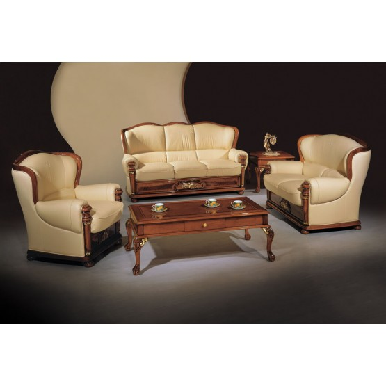 A44 Full Leather Living Room Set photo