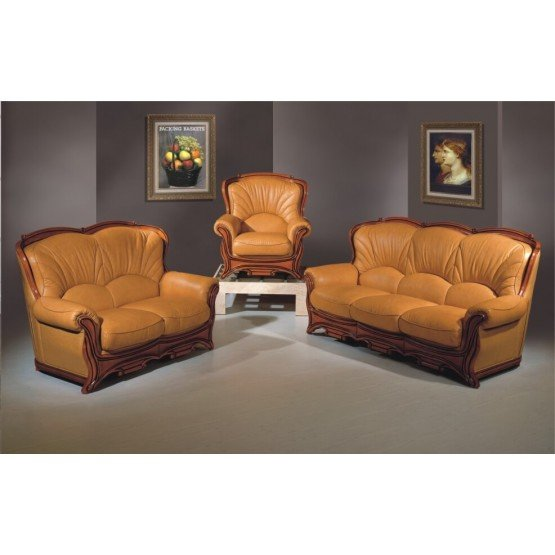 A52 Full Leather Living Room Set photo