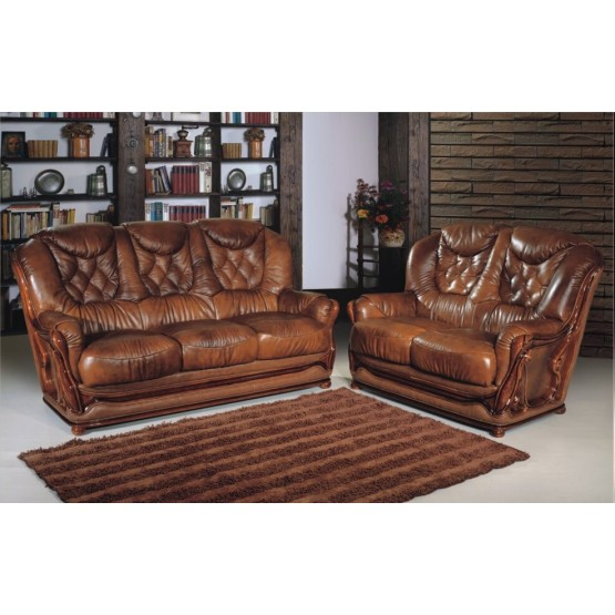 A56 Half Leather Living Room Set photo