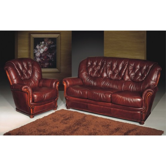 A61 Half Leather Living Room Set photo