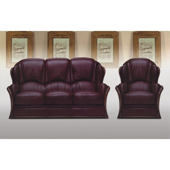A71 Full Leather Living Room Set photo