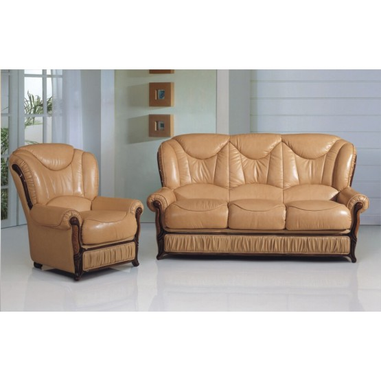 A83 Half Leather Living Room Set photo