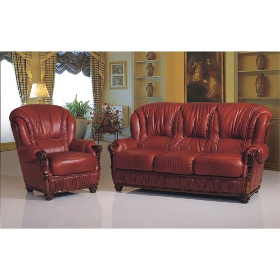 A85 Full Leather Living Room Set photo