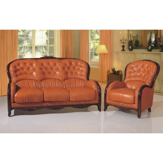 A88 Full Leather Living Room Set photo