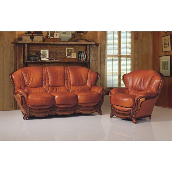 A92 Half Leather Living Room Set photo