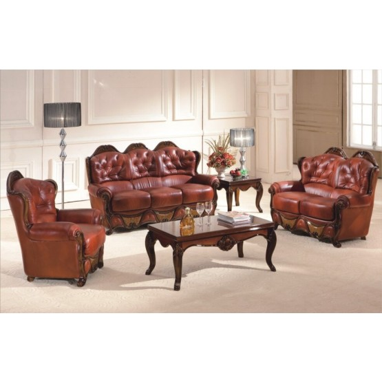 A94 Full Leather Living Room Set photo