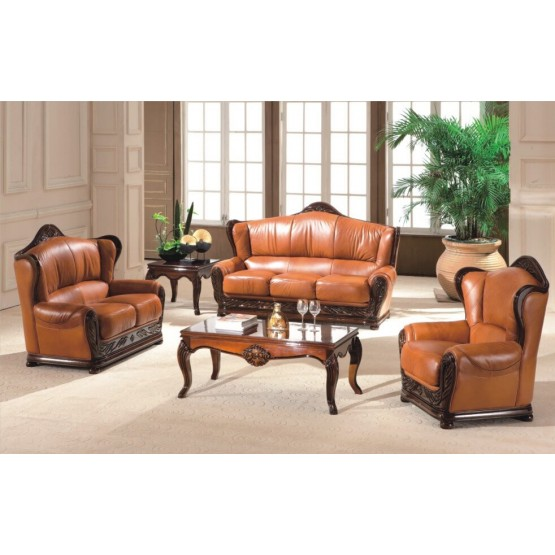 A95 Full Leather Living Room Set photo