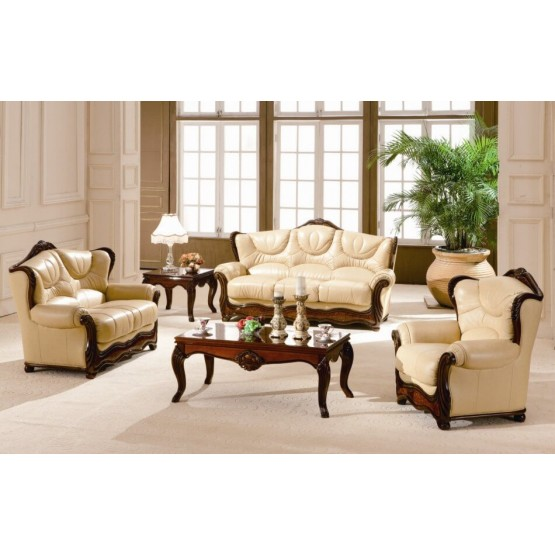 A97 Full Leather Living Room Set photo