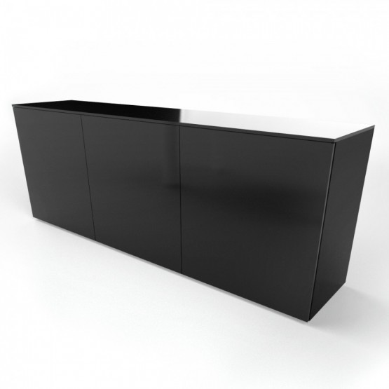 Crystal Low Office Credenza w/Doors photo