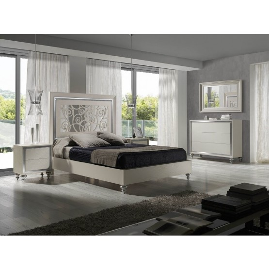 Alba Premium Wood Platform Bedroom Set photo