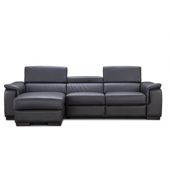 Allegra Premium Leather Sectional photo