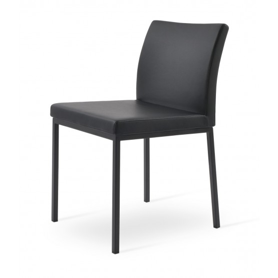Aria Leatherette Dining Chair w/Metal Base photo