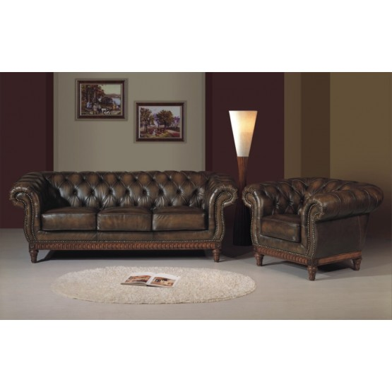 B264 Full Leather Living Room Set photo