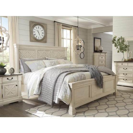 Ashley SM Bolanburg Wood Panel Bedroom Set
